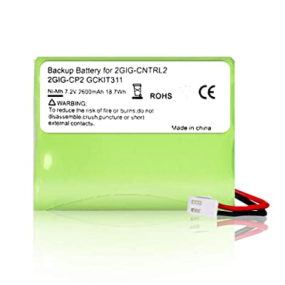 Rfeng Replacement Battery for 2gig BATT1X BATT2X BATT1 GC2 2GIG-CNTRL2 2GIG-CP2 GCKIT311 Go Control Panel Security System Alarm 6MR2600AAY4Z 10-000009-001 : Camera & Photo