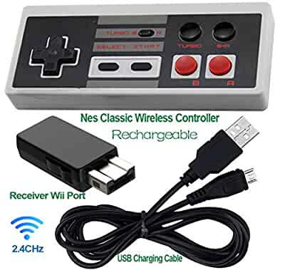 Rechargeable NES Clic Mini Wireless Controller -TURBO EDITION-Rapid on