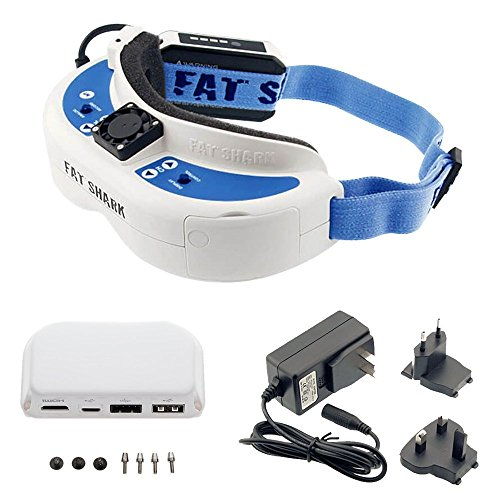 Fat-Shark-DominatorV3-HD-FPV-and-Wall-Charger-With-DJI-HDMI-Output-Module-for-Phantom-4-Phantom-4-Pro-and-Phantom-3-Professional-and-Advanced-Remote-Drone-Controller