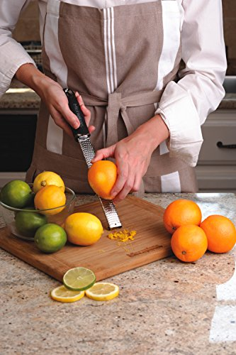 Microplane Premium Zester Grater - made in USA stainless steel blade -for zesting citrus and grating cheese -Soft touch handle - Black by Microplane (Image #7)