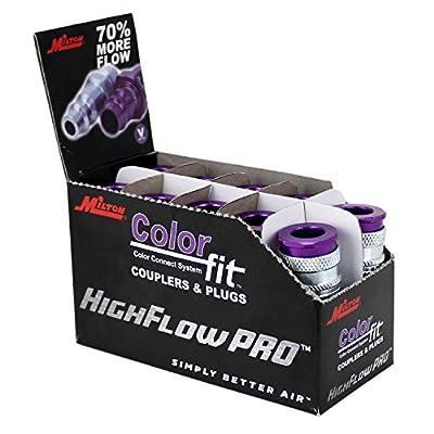 "ColorFit by Milton HIGHFLOWPRO?""? 765VC Pneumatic Plugs - (V-Style, Purple) - 1/"
