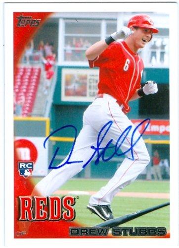 (Autograph Warehouse 83306 Drew Stubbs Autographed Baseball Card Cincinnati Reds 2010 Topps No .64)