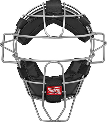 Frame Umpires Face Mask (Rawlings Lightweight Hollow Wire Umpire Mask, Black, Adult)