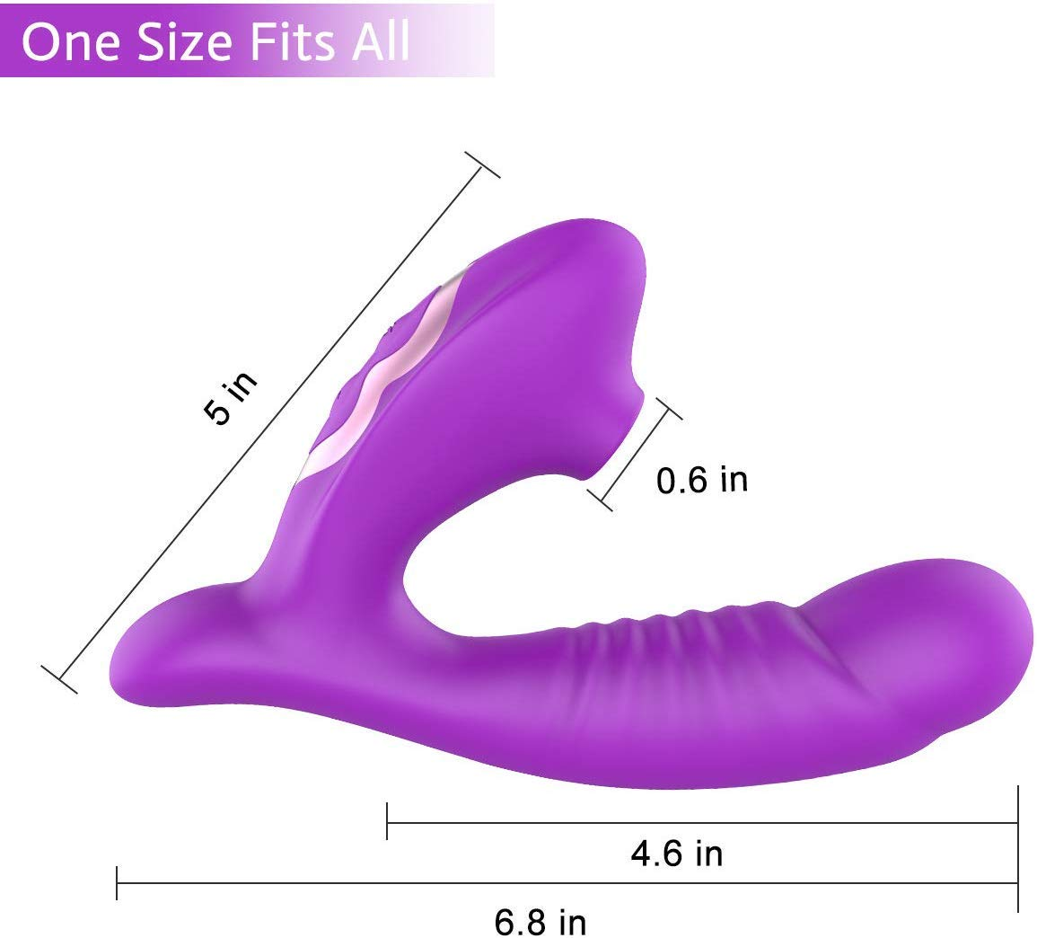Clitoral Sucking Vibrator Stimulato Clitoris & G Spot Dildo,with 10 Suction & Vibration Patterns Waterproof Rechargeable Sex Toys for Women Couples