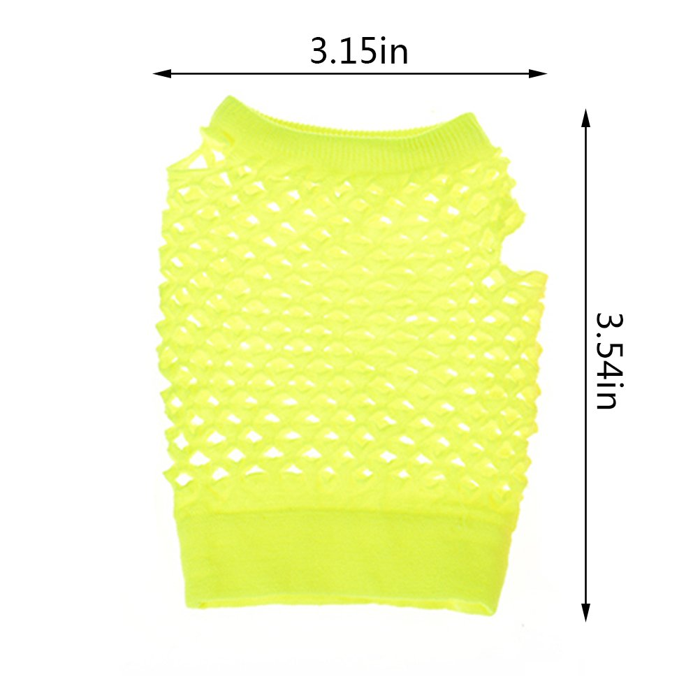 Jiabetterniu 14 Pairs Stretchy Fishnet Fingerless Wrist Gloves Short Wrist Length Mesh Neon Gloves Womens 80s Accessories For Parties Costumes,Assorted Brighted Color by Bamboo flower