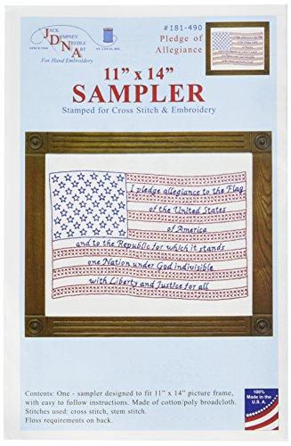 Jack Dempsey Stamped White Sampler (Flag Cross Stitch)