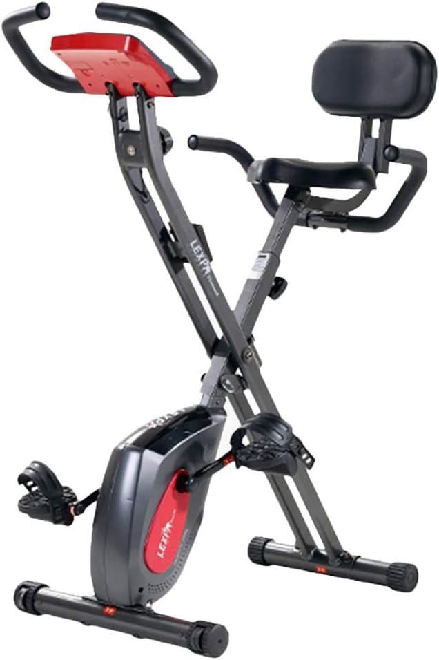 Erru Bicicleta Estática Bicicleta de Ejercicios Plegable Gris Vertical, Bicicleta Estacionaria de Entrenamiento con Respaldo, para el Hogar, Hombres/Mujeres y Personas Mayores, Carga 150kg: Amazon.es: Hogar