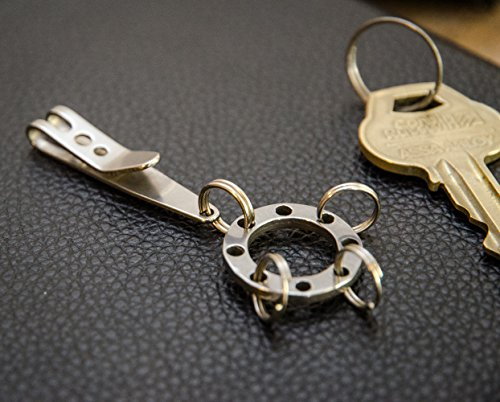 Keychain suspension clip