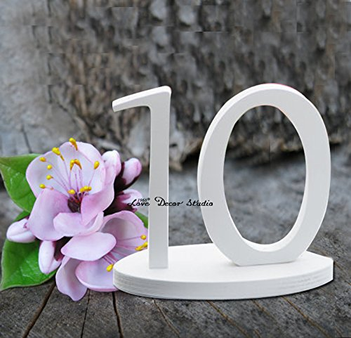 Unpainted pure white table numbers set wedding table reception find your seat table numbers unpainted table numbers painted table numbers DIY numbers (5 inches 1-30 Number)
