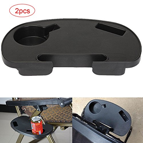 Hanperal 2pcs Oval Zero Gravity Chair Cup Holder, Zero Gravity Chair Tray with Mobile Device Slot and Snack Tray by Hanperal