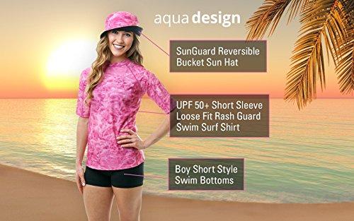 Aqua Design Women UPF 50+ Short Sleeve Comfort Fit Rash Guard Swim Surf Shirt by Aqua Design (Image #3)