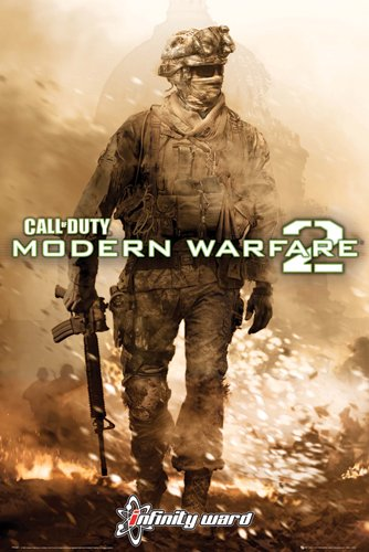 22X34  Call Of Duty  Modern Warfare 2  Soldier  Fire  Video Game Poster Print