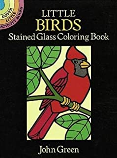 Little Birds Stained Glass Coloring Book Dover
