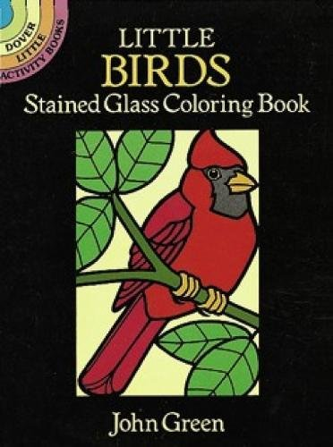 Price comparison product image Little Birds Stained Glass Coloring Book (Dover Stained Glass Coloring Book)