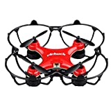 Virhuck GB202 Mini Drone 2.4GHz 4CH 6-AXIS GYRO Multicolor LED, Little Nano RTF Quadcopter with 3D Flips, Red