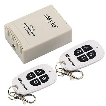 DE Funkfernbedienung 12V 4CH Wireless Fernbedienung Schalter Relaisschalter EG-D