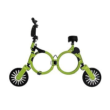 Bicicleta eléctrica plegable con batería recargable de litio 48V (VERDE), Patinete eléctrico plegable