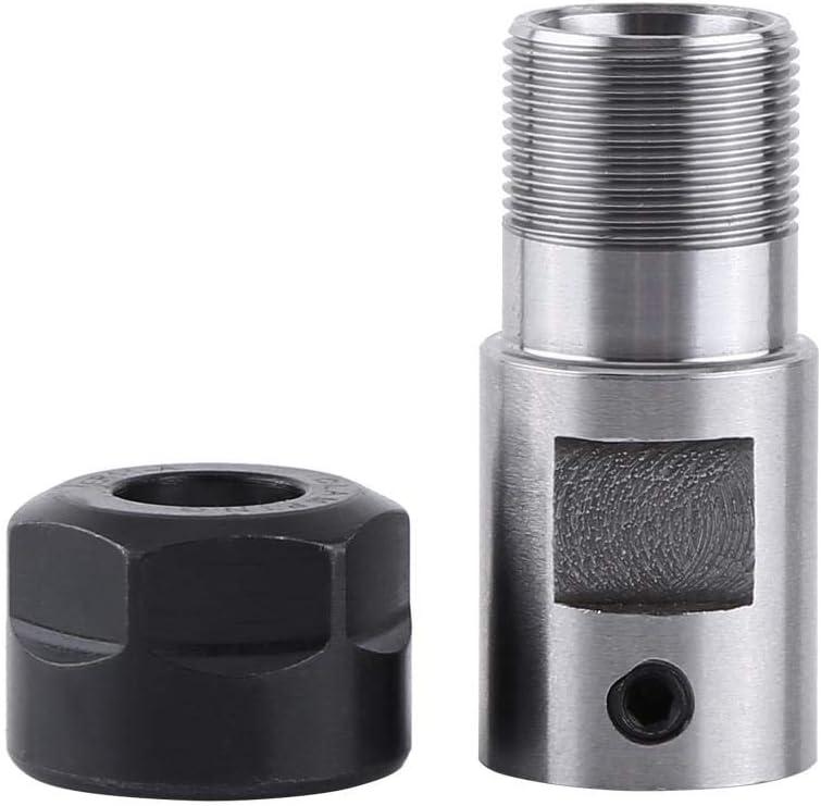 tige rallonge Akozon ER11 Pince /à sertir avec mandrin de serrage pour motobine int/érieur 8 mm Collet Chuck ER11 Chuck Motor Shaft Spindle Extension Rod pour fraisage CNC