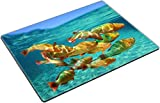 MSD Place Mat Non-Slip Natural Rubber Desk Pads Design 36247106 School of Colorful Tropical Fish Rainbow Parrotfish Close to Water Surface Caribbean sea