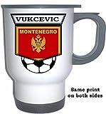 Simon Vukcevic (Montenegro) Soccer White Stainless Steel Mug