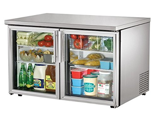 Refrigerator Series Commercial Undercounter - True TUC-48G-LP-HC-LD Series Undercounter Refrigerator Low Profile Glass Door Two Section