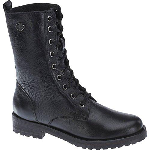 Harley Davidson Kenova botas estilo motero color negro de cuero mujer Biker