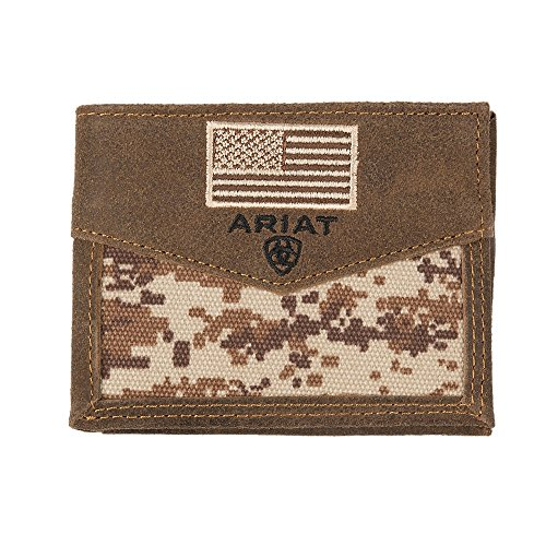 Ariat Unisex-Adult's Patriot Digital Camo Bifold Wallet, brown