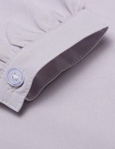 Grau Printemps Dame Manches BoBoLily Fashion Cou Longue Shirt Blouse Manche Long Spcial Large Elgante Dsinvolte Shirt Style Automne Chemisier Ar Haut Femme V wwx4fBI