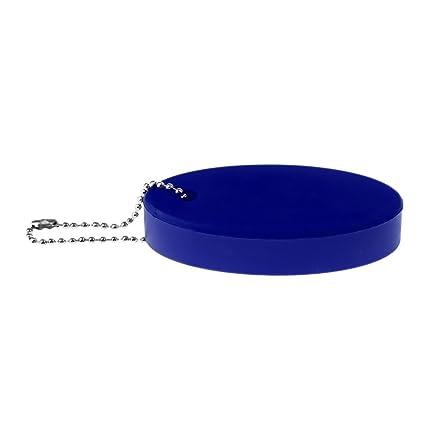 perfk Llavero Flotador Oval Portátil y Duradero Color de Alta Visibilidad Ideal para Surf Kayak Paseos