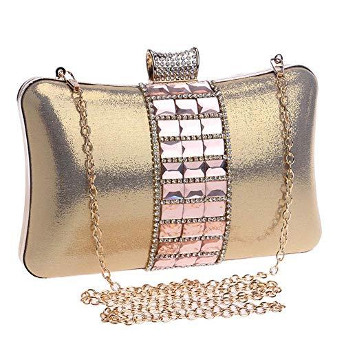 Lady in pelle Sky Clutch Shoulder Evening grow Bags strass con Bag Crossbody lucido Soft Crystal Donna Purse Card Gem 8wUA8