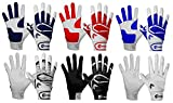 Cutters Gloves Youth Power Control 2.0 Batting Gloves, White/White, Medium