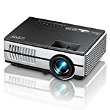 Mini Projector Portable 1080P LED LCD Projector Outdoor Home Cinema Theater with PC Laptop USB AV HDMI Input Pocket Projector for Video TV Movie Party Game Home Entertainment Pico Projector
