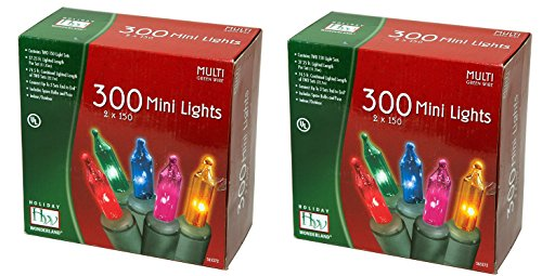 Noma/Inliten Holiday Wonderland's 300 Mini Lights Set (Pack of 2) - Mini Light Set
