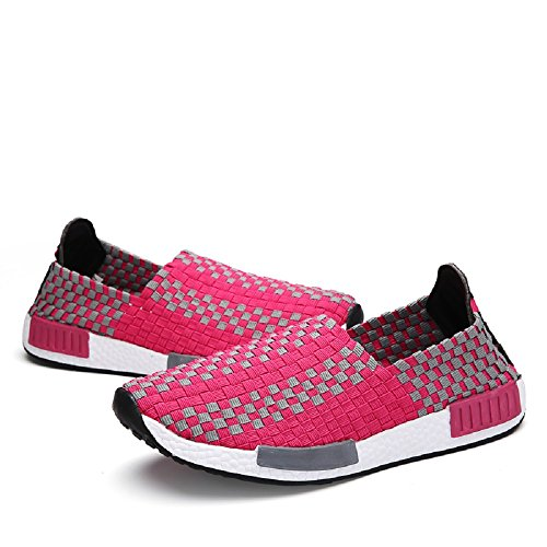 35 Tamaño estiramiento Blanco Top Zapatillas 44 Zapatos Elasticated Mujeres amp; Low Rosa Peggie House YHqzwp8