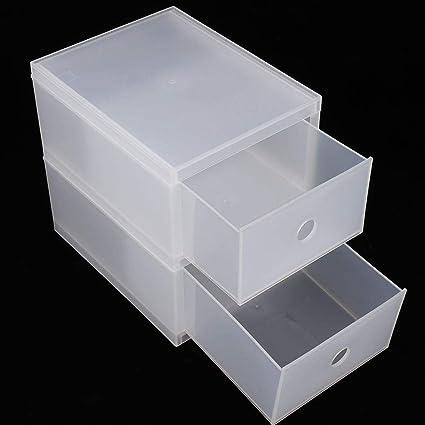 Estuche para maquillaje, organizador de cajones cosméticos tipo cajón transparente para escritorio de dos capas, práctico y ecológico.: Amazon.es: Belleza