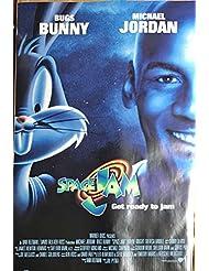 Space Jam Original 1996 Pre Movie Release Full Size Poster Michael Jordan Bugs