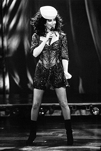 Cher B/W In Sailor Cap Black Outfit 24x18 Poster