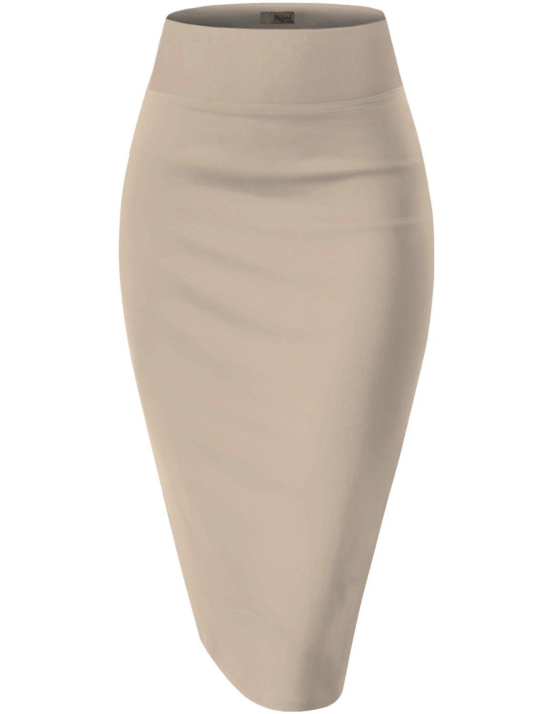 Womens Pencil Skirt For Office Wear KSK43584 1139 Stone XL
