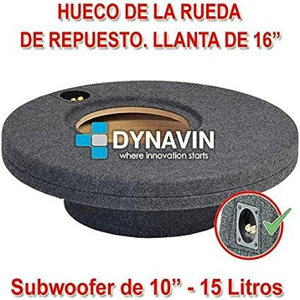 Dynavin Caja ACUSTICA para SUBWOOFER para Hueco Rueda DE Repuesto ...