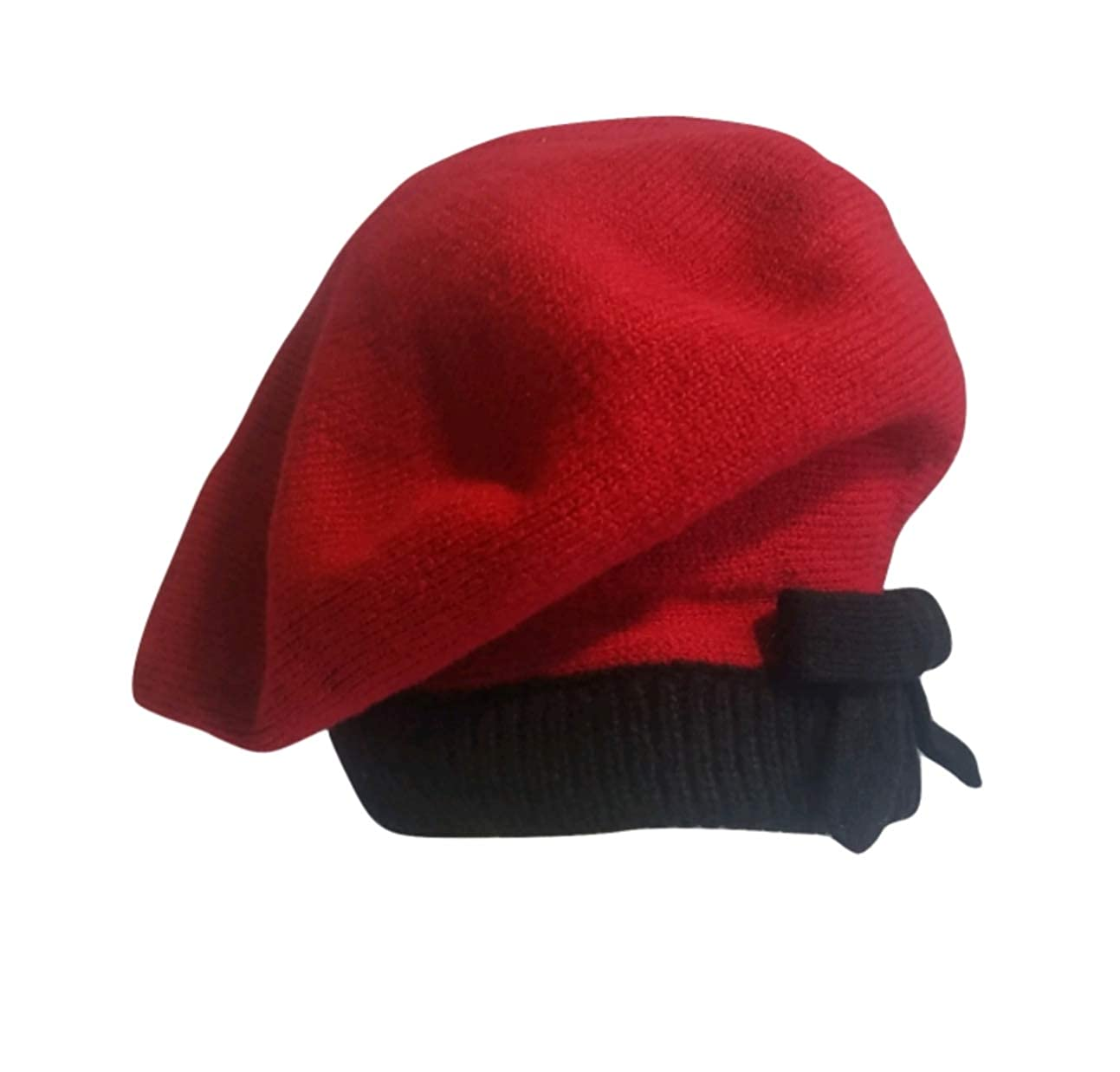 Kate Spade Contrast Bow Beret, Charm Red