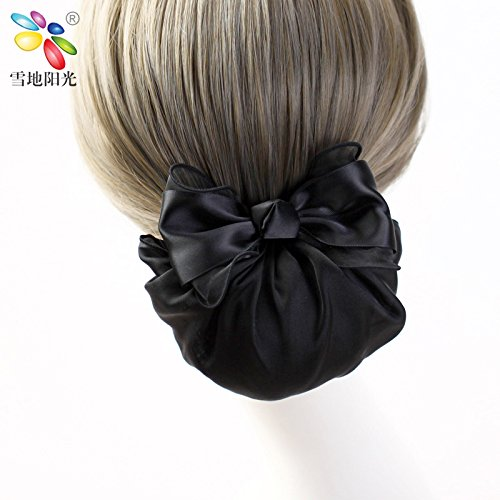usongs Khao yarn bow string bag Budou flaxen hair hairnet career employee head flower hair clips hair accessories ribbon
