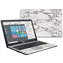 """MightySkins Protective Vinyl Skin Decal for Asus VivoBook X540SA X540LA 15.6"""" wrap cover sticker skins White Marble"""