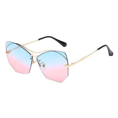 Zhuhaitf Bonne Qualité Popular Design Oversized Metal Frameless Eyewear Sunglasses for Women Retro kFrrAv2J