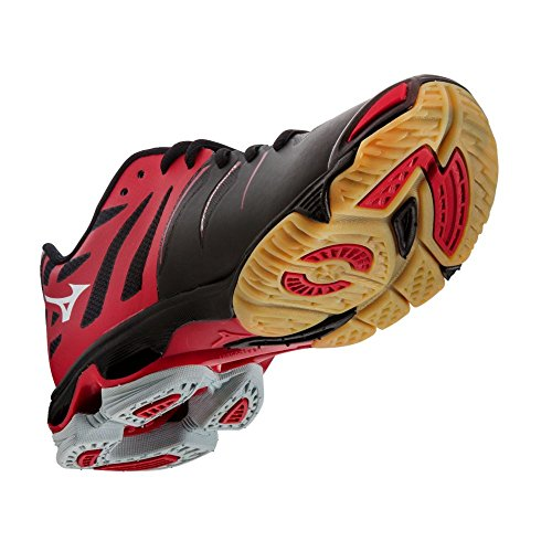 Mizuno Våg Blixt Z Kvinnor Volleyboll Skor - Black & Red (kvinnor 13)