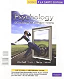Psychology : A Framework for Everyday Thinking, Lilienfeld and Lilienfeld, Scott O., 020500489X