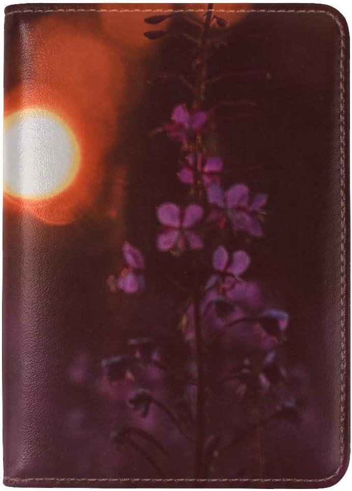 Flowers Flare Bokeh Leather Passport Holder Cover Case Travel One Pocket