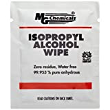 "MG Chemicals 99.9% Isopropyl Alcohol Handy Wipe, 6"" Length x 5"" Width (Bag of 50)"