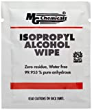 MG Chemicals 99.9% Isopropyl Alcohol Wipes, 6'' Length x 5'' Width (Bag of 50)