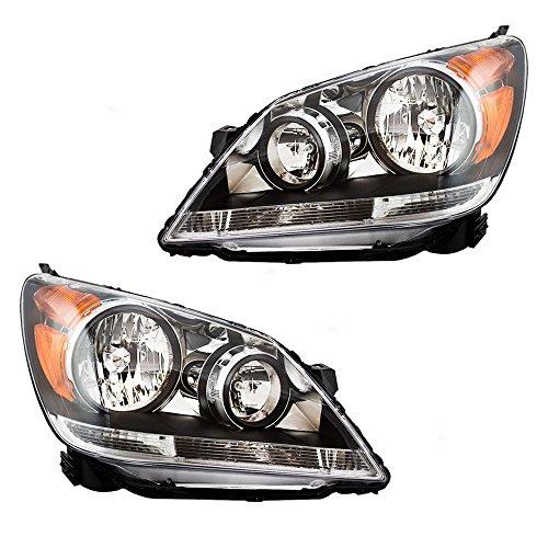 Headlights Headlamps Driver and Passenger Replacements for 08-10 Honda Odyssey Van 33150SHJA51 33100SHJA51