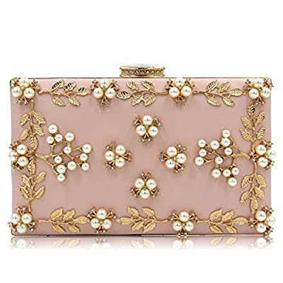 Milisente Women Evening Bag Pearls Clutch Purse Bags Evening Handbag